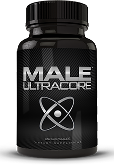 Bottle of Male UltraCore Male Testosterone Booster